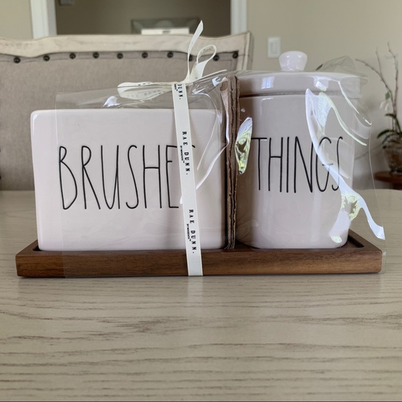 Rae Dunn Other - 🆕 Rae Dunn Brushes And Things Bathroom Set